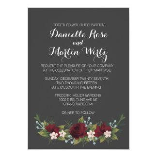Rustic Winter Wedding Invite