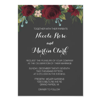 Rustic Winter Wedding Invite
