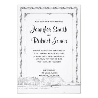 Rustic Winter Wonderland Wedding Invitation