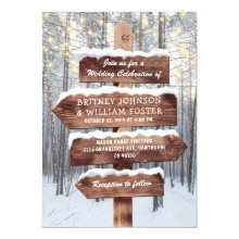 Rustic Winter Wonderland Woodland Lights Wedding