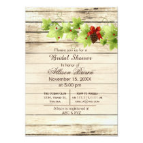 Rustic Winter Woodland pine cones Bridal shower Card