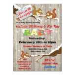 Rustic Winter Woodland Squirrel Baby Shower Card