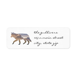 Rustic Wolf Return Address Labels