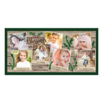 Rustic Wood and Evergreen BLESSINGS, 7 Pics Card