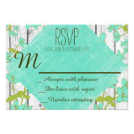 Rustic Wood and Floral Wedding RSVP Cards