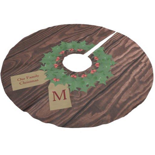 Monogram Christmas Tree Skirt