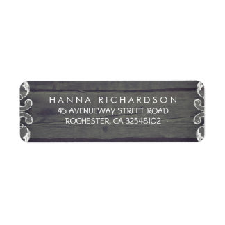 Rustic Wood and Lace Edge Wedding Label