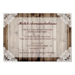 Rustic Wood and Lace Hotel Accommodations Large Business Card