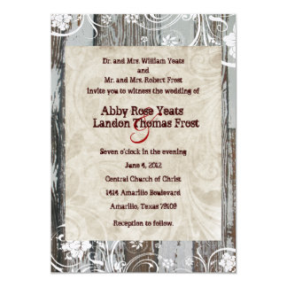 Rustic Wood and Parchment Wedding Invitations