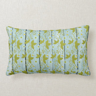 Rustic Wood and Vines Throw Pillow