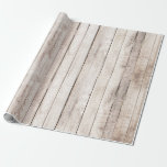 """Rustic Wood Barn Boards Farmhouse Woodland Wedding Wrapping Paper<br><div class=""""desc"""">Shabby rustic whitewashed wood pairs perfectly with any farmhouse decor or country styling!  • Coordinate it! Browse the Blushing Bride Wedding Collection for all matching products,  including wedding invitations,  reception decor,  favors and more.</div>"""