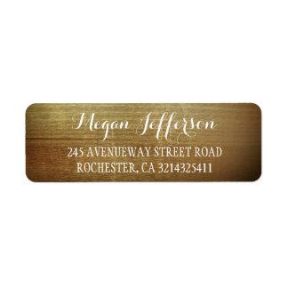 Rustic Wood Barn Wedding Label