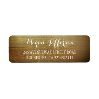 Rustic Wood Barn Wedding Label
