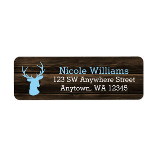Rustic Wood Blue Buck Deer Label
