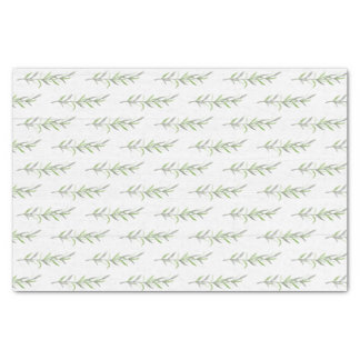 Rustic Wood Botanical Green Leaves Wedding Tissue Paper
