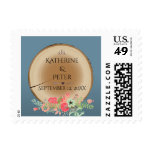 Rustic Wood Bouquet - Postage Stamp