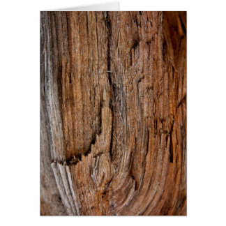 Rustic wood card