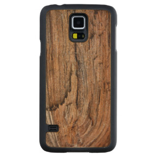 Rustic wood carved maple galaxy s5 slim case