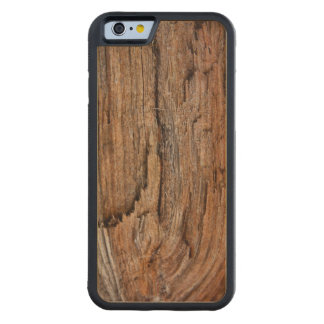Rustic wood carved maple iPhone 6 bumper case