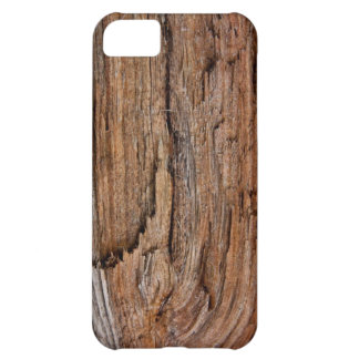 Rustic wood cover for iPhone 5C