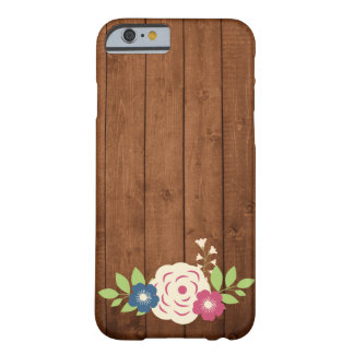 Rustic Wood & Chalkboard Style Flowers Iphone case
