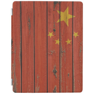 Rustic Wood China Flag iPad Cover