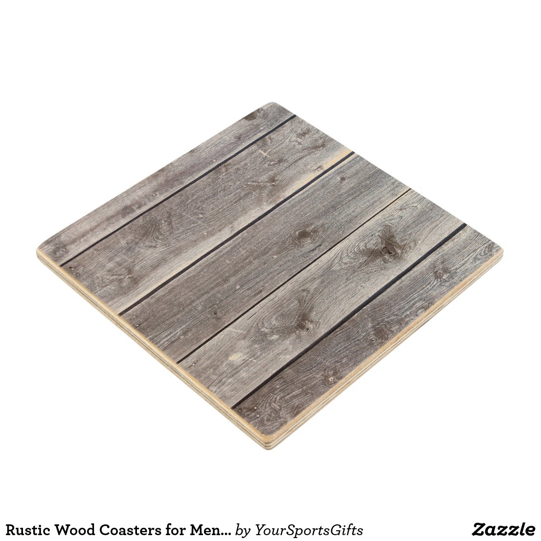 Rustic Wood Coasters for Men and Women