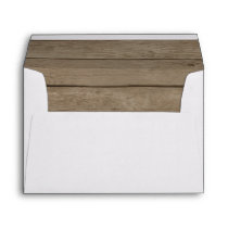 Rustic Wood Country Western Envelope