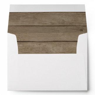 Rustic Wood Country Western Envelope