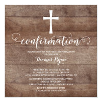 Confirmation Invitations<