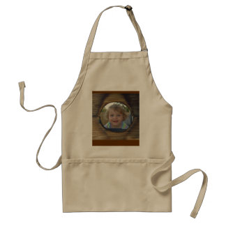 Rustic Wood Customize Picture Adult Apron