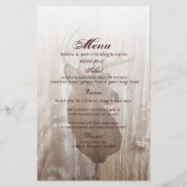 rustic wood deer the hunt is over wedding menu