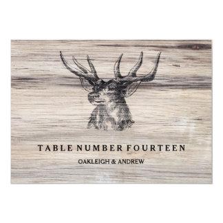 "Rustic Wood   Deer Wedding Table Number Cards 5"" X 7"" Invitation Card"