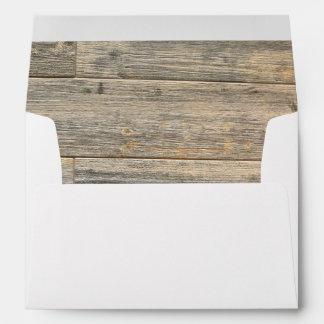 Rustic wood design envelope