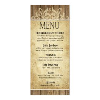 Rustic Wood Dinner Menu | brown tan Card