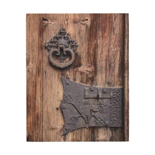 Rustic Wood Door Wooden Wall Art Zazzle