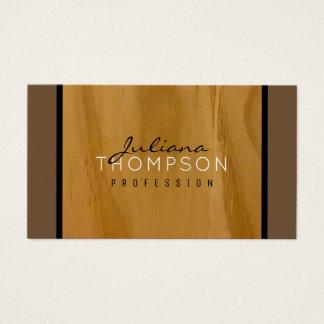 rustic wood elegant business card