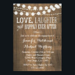"""Rustic Wood Engagement Party Invitation<br><div class=""""desc"""">wording can be changed for a different occasion and colors can be changed. Email seasidepapercompany@gmail.com for design changes.</div>"""
