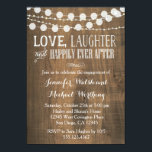 "Rustic Wood Engagement Party Invitation<br><div class=""desc"">wording can be changed for a different occasion and colors can be changed. Email seasidepapercompany@gmail.com for design changes.</div>"