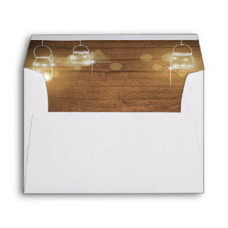 Rustic wood Envelope Boho jars lights elegant