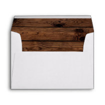 Rustic Wood Envelope, Rustic Envelope