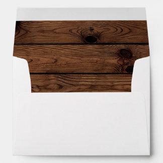 Rustic Wood Envelope, Rustic Envelope