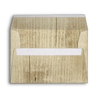 rustic wood envelopes for wedding invitations