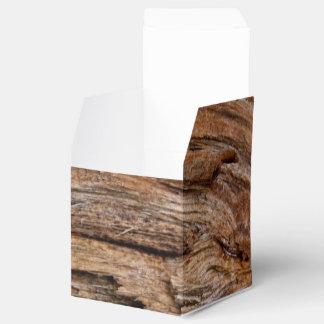 Rustic wood favor box