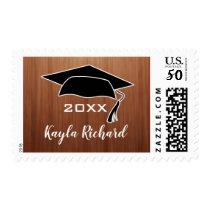 Rustic Wood Graduate Name Graduation Postage