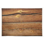Rustic Wood Grain Boards Design Country Gifts Cloth Place Mat
