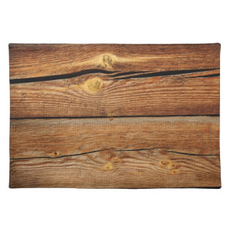 Rustic Wood Grain Boards Design Country Gifts Cloth Placemat