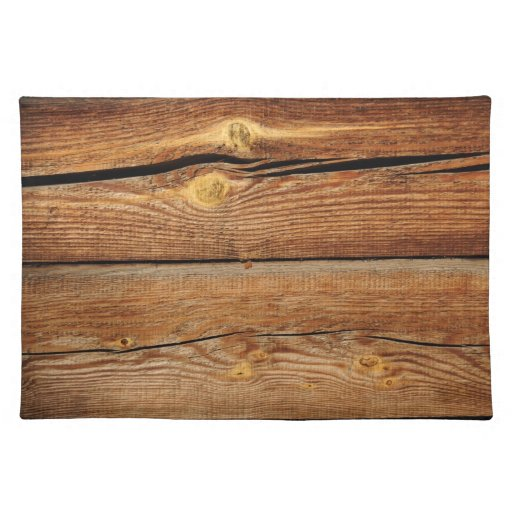 rustic wood grain boards design country gifts cloth placemat zazzle