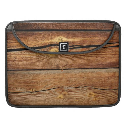 Rustic Wood Grain Boards Design Country Gifts Sleeve For MacBooks