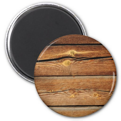 Rustic Wood Grain Boards Design Country Gifts 2 Inch Round Magnet